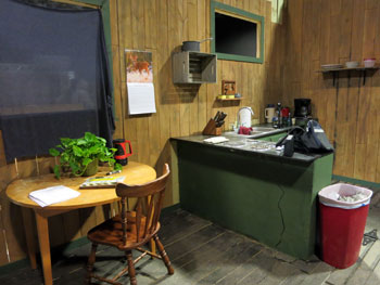 cabin in the woods set image