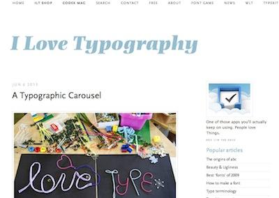 i love typography image