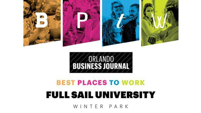 Featured story thumb - Full Sail Named Best Place to Work by 'Orlando Business Journal'