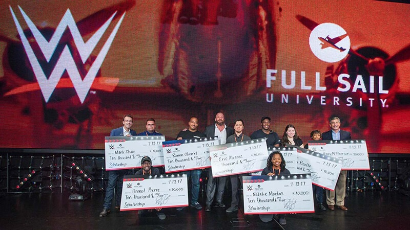 WWE® Exceeds $350,000 in Scholarships Awarded to Full Sail University Students - Story image